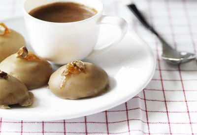 Espresso-glazed biscotti