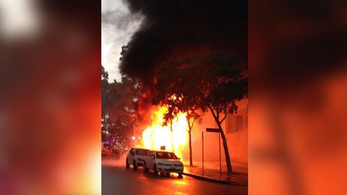 The Pyrmont fire is believed to have started after a lightning strike. (Piermarq Art, Twitter)