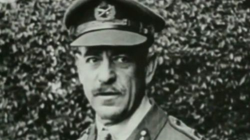 Sir John Monash, the man regarded by many as Australia's greatest soldier, and our commander on the Western front for the final stages of World War One. Picture: 9News