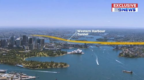The location of the Western Harbour Tunnel