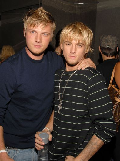 Nick Carter and Aaron Carter during Howie Dorough's Birthday Party at LAX in Hollywood, California, United States. (Photo by Mark Sullivan/WireImage)