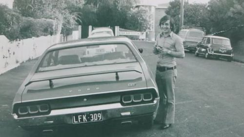 Just following dad's instructions: Neil in the 1970s. (Supplied)
