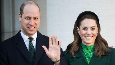Prince William and Kate meet Ireland's Taoiseach Leo Varadkar and his partner Matthew Barrett on March 03, 2020 in Dublin, Ireland.
