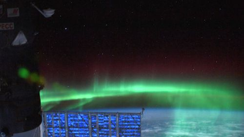 It lit up the upper-atmosphere in dazzling shades of green and yellow.