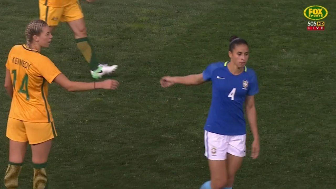 Brazil snub Aussies handshake