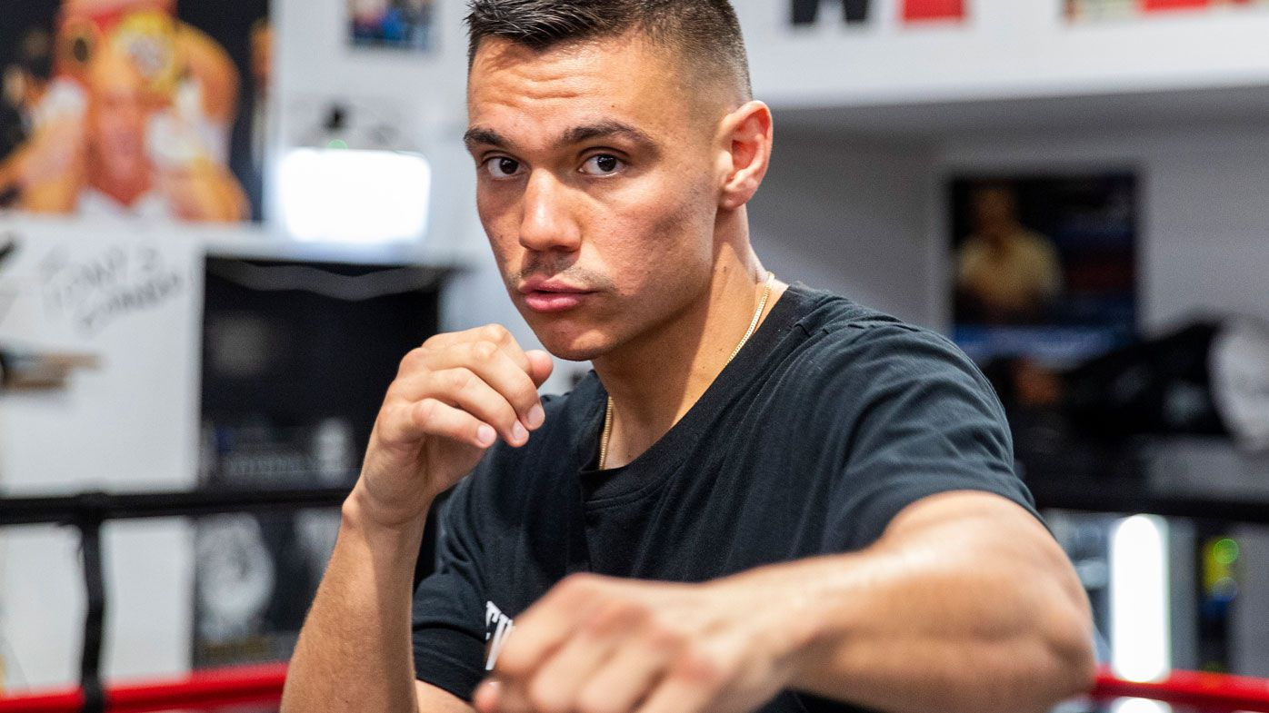 Tim Tszyu prepares for Bowyn Morgan ahead of the Sydney Super Fight. (Getty)
