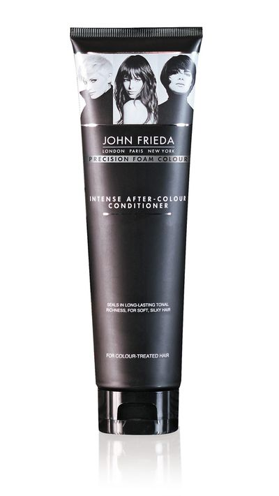 "<a href=""https://www.johnfrieda.com.au/homecolour/precision-foam-colour/Intense-After-Colour-Conditioner.aspx"" target=""_blank"">Intense After-Colour Conditioner, $16.99, John Frieda</a>"