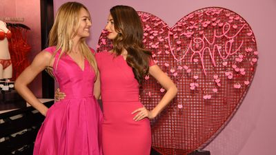 Candice Swanepoel and Lily Aldridge let one another know how they feel - which is super good by the way.