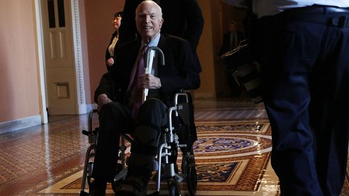 Mr McCain announced he was battling the disease last year.