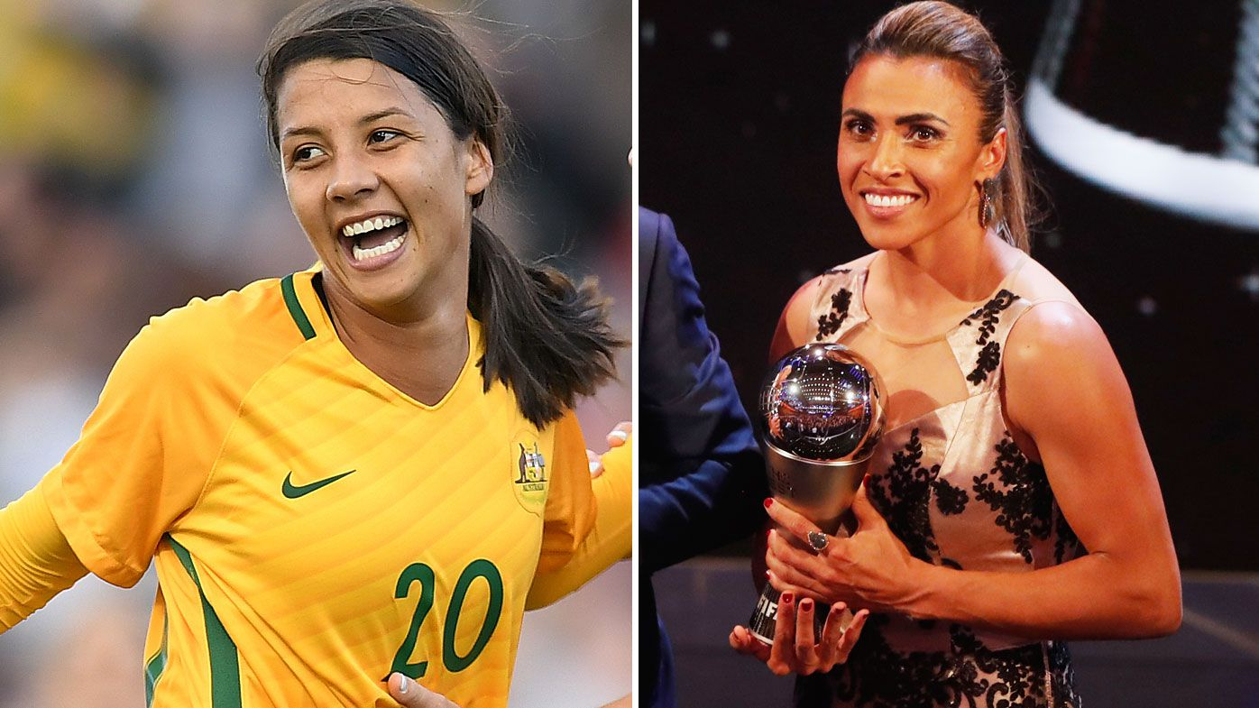 Matildas striker Sam Kerr misses out on FIFA women's player of the year award, Marta claims sixth title