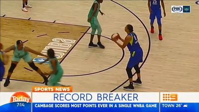 Basketball: Opals star Liz Cambage sets new WNBA record