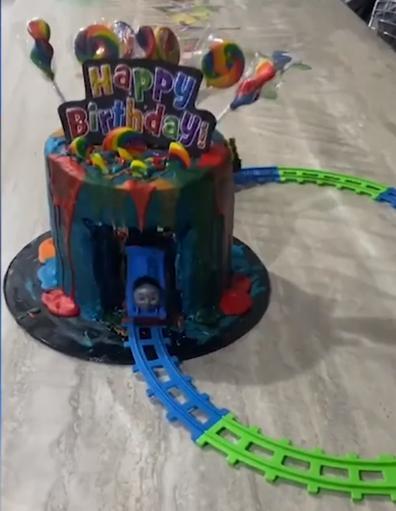 Thomas the Tank Engine layer cake