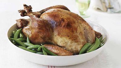 Roast brined turkey