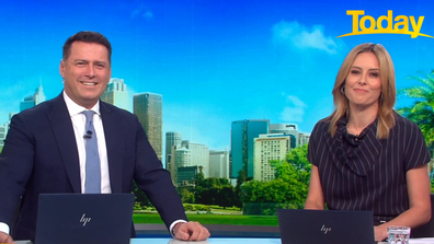 Today host Karl Stefanovic excitedly revealed he will be co-hosting the State of Origin from next week.