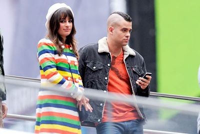 Lea Michelle and Mark Salling.