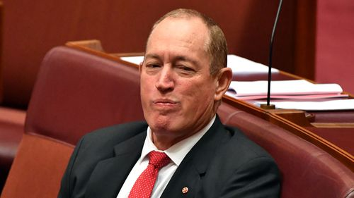 Fraser Anning has been called 'pathetic and shameful' during a censure.