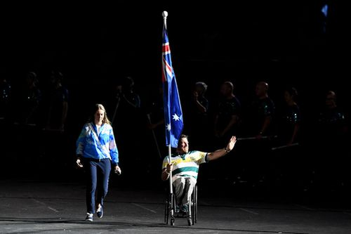 Fearnley signed off on his Games career with a gold medal. (AAP)