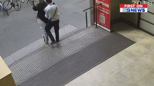 Terrifying video captured Shire Ali attacking the security guard.