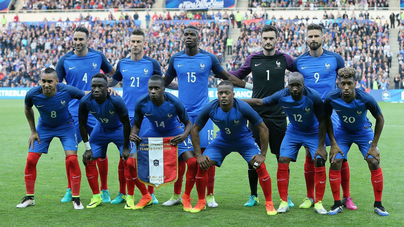The star-studded French team are favourites for the title. (AAP)