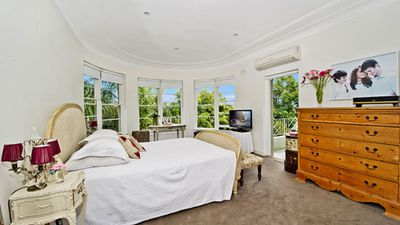"""One of the """"four to five"""" double bedrooms, ideal for reminding you that you are rich and successful every time you wake up. (Supplied, Laing and Simmons)"""