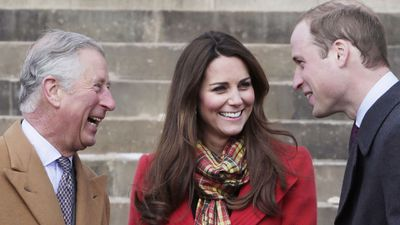 Prince Charles with the Duke and Duchess of Cambridge, 2013.