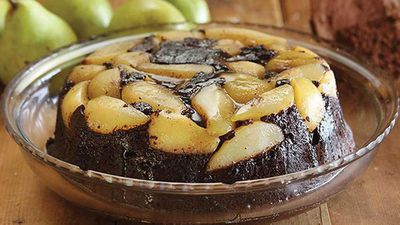 "Recipe:&nbsp;<a href=""http://kitchen.nine.com.au/2016/05/05/13/46/maggie-beers-chocolate-and-fresh-pear-pudding"" target=""_top"">Maggie Beer's chocolate and fresh pear pudding</a>"