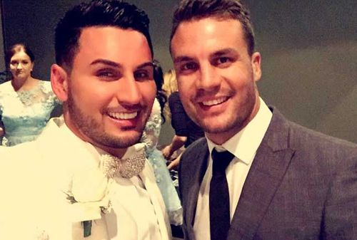 Auburn deputy mayor Salim Mehajer at his wedding with former NRL player Beau Ryan. (Source: Facebook)