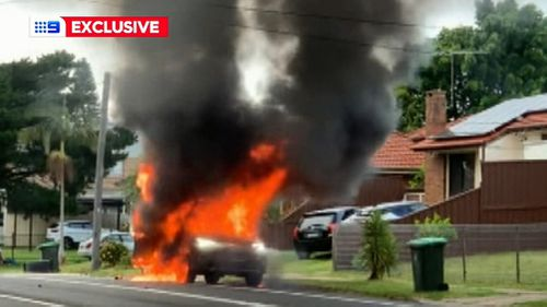 A car found burned-out in Yagoona is thought to be linked to the shooting.