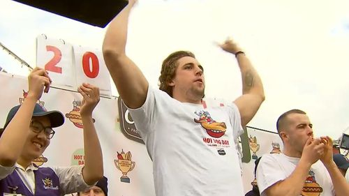 Jesse Freeman travelled from Sydney for the event, and was crowned winner. Picture: 9NEWS