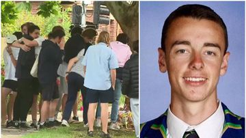 Distraught friends lay flowers for teen killed after VCE exam