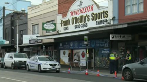 Police continue to search for the group of offenders. (9NEWS)