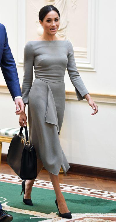 Duchess of Sussex Meghan Markle in aRoland Mouret Dress, Ireland, July, 2018<br>