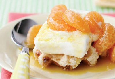 Mandarins in honey cardamom syrup