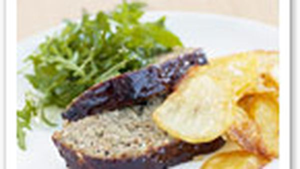 Meatloaf with barbecue sauce
