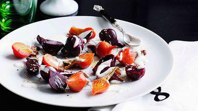 "<a href=""http://kitchen.nine.com.au/2016/05/16/17/10/beetroot-salad-with-yoghurt-and-oregano-dressing"" target=""_top"">Beetroot salad with yogurt and oregano dressing<br> </a>"