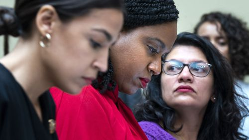 Alexandria Ocasio-Cortez, Ayanna Pressley and Rashida Tlaib, along with Ilhan Omar, form what has been referred to as 'the squad' in Congress.