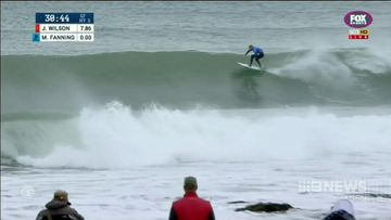 Mick Fanning and Julian Wilson return to J-Bay after shark attack