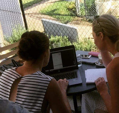 Melissa Browne working through her finances