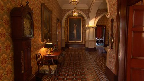 Admiralty House is its own museum, with paintings of Governors-General on its walls. (9NEWS)