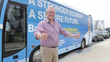 Scott Morrison has hit the road in key Queensland battleground areas.