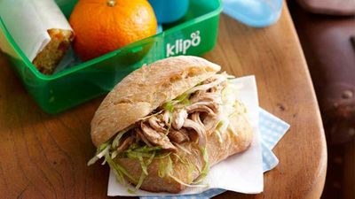 "Recipe: <a href=""http://kitchen.nine.com.au/2016/05/16/13/05/pulled-chicken-rolls"" target=""_top"">Pulled chicken rolls</a>"
