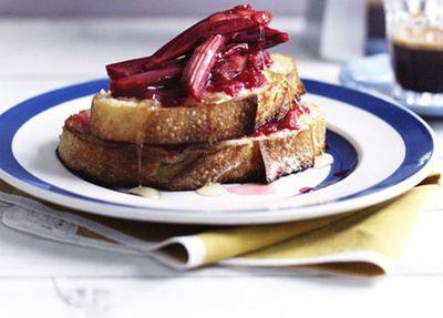 "Recipe:&nbsp;<a href=""http://kitchen.nine.com.au/2016/05/19/16/44/rhubarb-and-mascarpone-french-toast"" target=""_top"" draggable=""false"">Rhubarb and mascarpone French toast</a>"