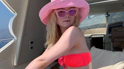 Elle Fanning wears sister Dakota Fanning's bikini