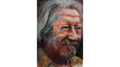 "The Archibald Prize is awarded each year to an Australian for the best portrait of someone who is preferably involved in art, letters, science or politics. <br _tmplitem=""1""><br _tmplitem=""1""> French-born Sydney artist Bruno Jean Grasswill won the Art Gallery of New South Wales' 2015 Packing Room Prize with his portrait of Australian actor Michael Caton."