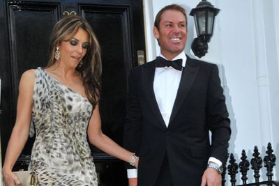Warne reportedly proposed over dinner to the applause of an audience,  and gave Liz Hurley a stunning sapphire ring.