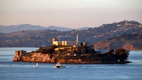 The former Alcatraz prison in San Francisco Bay. (Photo: AP).