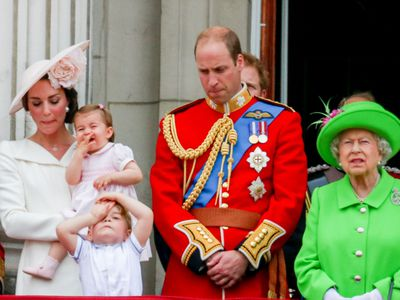 Trooping the Colour: Prince William gets told off by the Queen