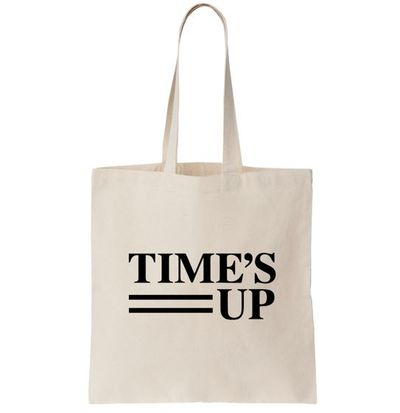 "Time's Up l<a href=""https://store.timesupnow.com/products/logo-canvas-tote-bag"" target=""_blank"" draggable=""false"">ogo canvas tote bag</a>, $15.36<br>"