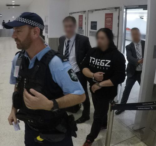 Police arrested the 34-year-old man at Sydney Airport last night. Picture: NSW Police