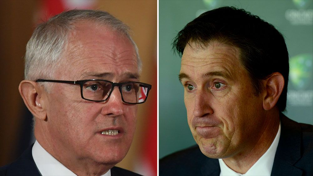 Malcolm Turnbull (left) and James Sutherland. (AAP)